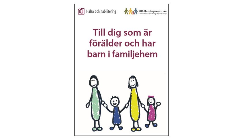 Folderframsida illustreration familj.